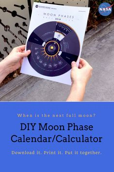 Moon Phase Calendar/Calculator and Moon Journal (Grades K-12) Download the ]decoder-ring style tool to show the phase of the Moon on any day in 2018. Download a printable Moon journal. Prepare for the next supermoon and total lunar eclipse! Five other STEM activities about the Moon are included.