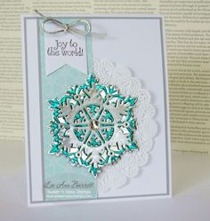 Sweet 'n Sassy Stamps Large Snowflake Dies, Add A Little Dazzle Craft Metal Sheets