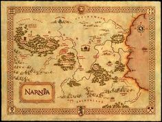 Map of the Realm of Narnia.  Reminds me of Hank Green.