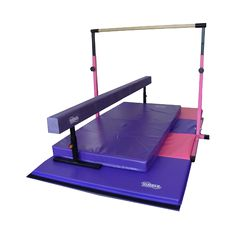 Little Gym Deluxe Cushioned Balance beam and bar, physical therapy area, exercise area