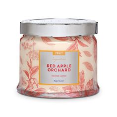 Red Apple Orchard 3-Wick Jar Candle-image-0