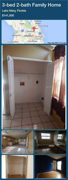 3-bed 2-bath Family Home in Lake Mary, Florida ►$141,000 #PropertyForSaleFlorida http://florida-magic.com/properties/67898-family-home-for-sale-in-lake-mary-florida-with-3-bedroom-2-bathroom