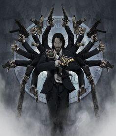 All hands John Wick John Wick Film, Character Art, Character Design, Keanu Reeves John Wick, Arte Dc Comics, Transformers, Comic Art, Fantasy Art, Concept Art