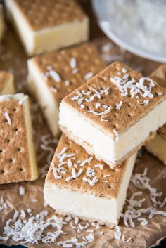 Frozen Coconut Pudding Graham Sandwiches Recipe - Just 5 ingredients and no bake!