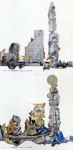 Peter Cook (1988). A+U Extra Edition Dec 1989: 173 | RNDRD