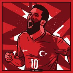 Arda Turan - Turkey - Euro 2016 by Kieran Carroll Design