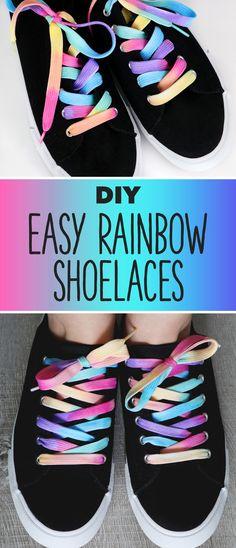 DIY Pastel Rainbow Shoelaces   Karen Kavett