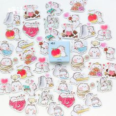 300 Pcs Japan Style-Cherry Blossoms Round Stickers in 8 Designs for Kids Party Favor 1.34 Circle Labels Japan