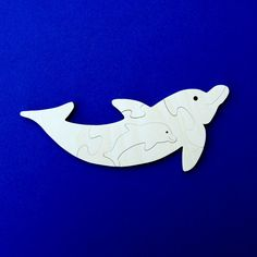 Dolphin Puzzle - Wood Puzzle for Kids - Dolphin Party - Kids Wood Puzzle…