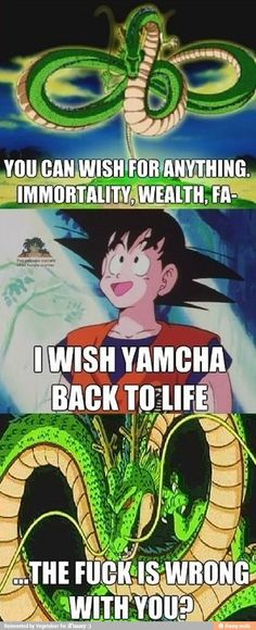 I have nothing agaisnt Yamcha, I just thought this was funny.