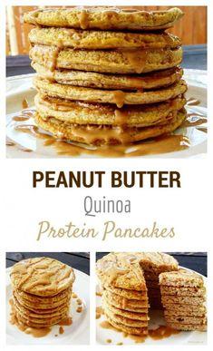 Gluten Free Peanut Butter Quinoa Protein Pancakes