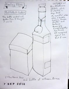 Foundations - Lesson 2 - bottle and box Urban Sketching, My Passion, Opera, Buildings, Foundation, Objects, Bottle, Box, My Crush