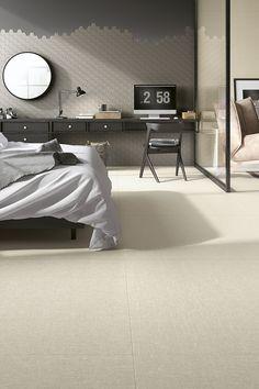 Reve by Mirage #bedroom #bedroomdesign #bedroomdecor #interiordesign #walldecor #miragetile #porcelaintiles