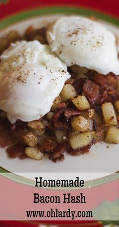 Bacon Hash....this BLOG has the BEST recipes. Can't wait to try this one! Hash is one of my favorite b-fasts!