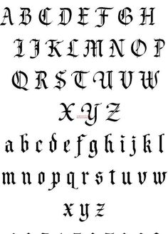 Tattoo-Schriftdesign Einzigartige Tattoo-Schriften Alphabet Tattoo Letters Design Best Picture For Gothic Style drawing For Your Taste You are looking for something, and it is goin Unique Tattoo Fonts, Best Tattoo Fonts, Tattoo Font For Men, Tattoo Lettering Design, Calligraphy Tattoo, Graffiti Lettering, Font Design, Design Tattoo, Gothic Lettering