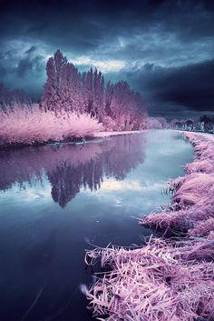Misty Rainy Day – Infrared Landscape Photography by David Keochkerian