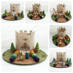 Rainbow Castle Playscape wol vilt spelen mat door MyBigWorld2015