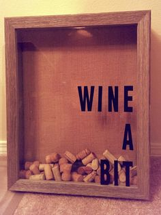 Wine cork shadow box collector