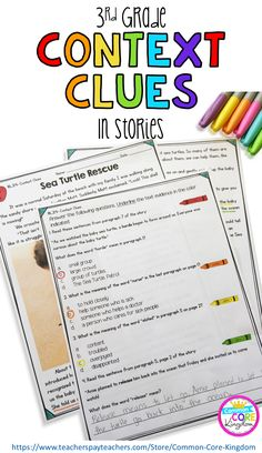 Are you looking for a way to teach your third graders context clues in fiction? This packet of short stories will help your graders master Common Core Standard and become experts in literal and nonliteral language. Reading Lessons, Reading Skills, Teaching Reading, Guided Reading, Reading Centers, Reading Groups, Guided Math, Math Centers, Learning