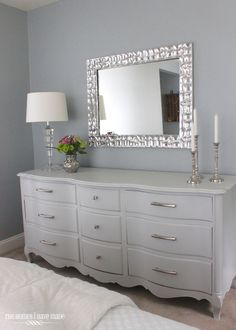 Top 13 of 2013- French provincial dresser makeover French provincial dresser What to put above a dresser