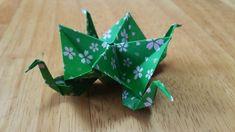 折り紙(おりがみ)・鶴のあられ入れ
