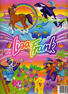 I grew up with Lisa Frank. Notebooks, folders, binders, stickers, beach towels, diaries... The company is still around and kickin', although I'll admit I don't love their new girly designs quite as much as the old school stuff.