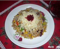 Kroupové rizoto Polenta, Fried Rice, Fries, Health, Ethnic Recipes, Food, Bulgur, Health Care, Essen