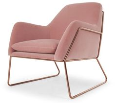 Frame Armchair, with Copper Frame