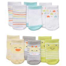 6-Pack Terry Face Socks
