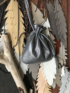 Items similar to Leather drawstring Pouch Bag - Silver Grey - Handmade By Shirlbcreationstoo on Etsy Jewelry Stores Near Me, Best Jewelry Stores, Handmade Bags, Handmade Leather, Dice Bag, Drawstring Pouch, Brown Bags, Little Bag, Leather Pouch