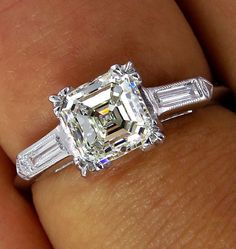 GIA  VVS1..Art Deco 1.20ct Antique Vintage Asscher, Square Emerald Cut Diamond…