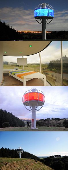Meet the weirdest tiny house we've ever seen. The amazing Skysphere by mad scientist creative, Jono Williams.