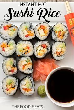 pressure cooker sushi rice recette best vegan recipes pinterest riz recette sale et. Black Bedroom Furniture Sets. Home Design Ideas