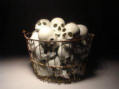 Skull basket by Cyrus Swann.