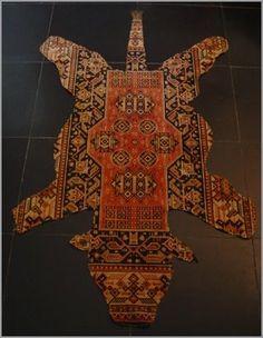 cheeky persian meets bear rug
