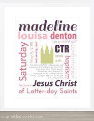 Baptism Customizable Subway Print
