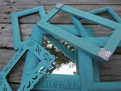 Shabby chic mirror shabby chic frame set by KarensChicNShabby