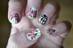 <3bridal shower nails!!!