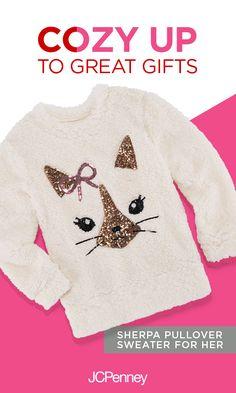 3148ec7e2 Total Girl Long Sleeve Sherpa Pullover - Girls' 7-16 & Plus - JCPenney
