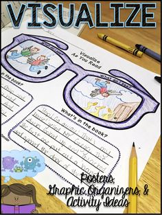 LITERACY ACTIVITY-- Grades Posters, Graphic Organizers & Activity Ideas for Visualizing! Perfect to use with any texts to provide students plenty of opportunities to practice visualizing and creating mental images as they are reading. Reading Strategies Posters, Reading Comprehension Strategies, Reading Activities, Teaching Reading, Writing Strategies, Reading Response, Reading Skills, Third Grade Reading, Educational Activities