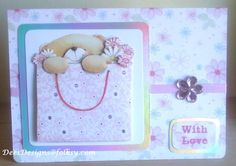 Handmade Forever Friends 'With Love' Birthday or Mother`s Day Card by Dees Designs Forever Friends Cards, Cute Birthday Cards, Creative Cards, Making Ideas, Handmade Cards, Mothers, Bears, Card Ideas, Ted