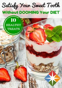 You can cheat without really cheating! Try these 10 healthy treats that will satisfy your sweet tooth without wrecking your diet! Pick a recipe (or two!) to try this weekend!