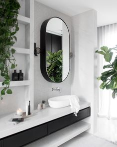 Bathroom + Modern Bathroom + Bathroom Design + Black and White Bathroom House, Bathroom Interior Design, Interior, Home, Modern Bathroom, Interior Design, Bathrooms Remodel, Bathroom Decor, Beautiful Bathrooms