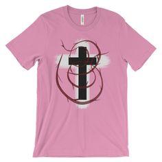 Holy Cross with Blood Men Women Unisex Short Sleeve T-shirt Tee