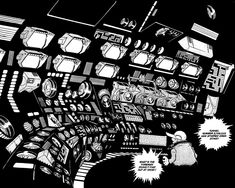 Leiji Matsumoto's spaceship dashboard - Dark Roasted Blend: Star Wars, Japanese Style