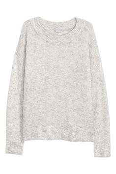 Wool-blend jumper - Light grey - Ladies | H&M 1