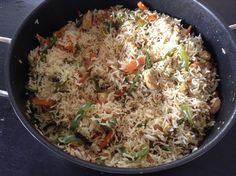 Healthy and delicious Indo-chinese fried rice made without soy sauce. Ingredients : For chicken : Chicken breast - Chinese Chicken, Biryani, Soy Sauce, Fried Chicken, Fried Rice, Fries, Healthy, Ethnic Recipes, Food