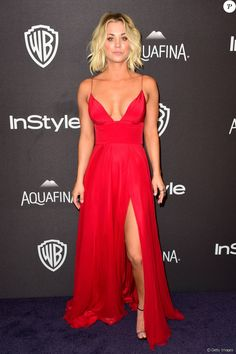 Kaley Cuoco Brings the Heat in a Plunging Red Dress at the. Kaley Cuoco Brings the Heat in a Plunging Red Dress… Kaley Cuoco, Golden Globes 2016, Golden Globes After Party, Nice Dresses, Prom Dresses, Formal Dresses, Meagan Good, Red Evening Gowns, Dress Vestidos