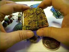 Polymer Clay Mixed Media Faux Batik tutorial