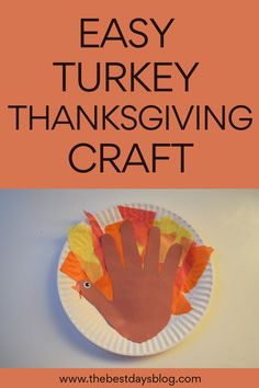 This Thanksgiving turkey craft is really easy to make. A fun activity to do with your toddler this year. #thanksgivingcraft #turkeycraft #craftsfortoddlers Thanksgiving Crafts For Toddlers, Thanksgiving Turkey, Crafts For Kids, Tissue Paper Trees, Turkey Craft, Fun Activities To Do, Toddler Crafts, Halloween Crafts, Easy Crafts